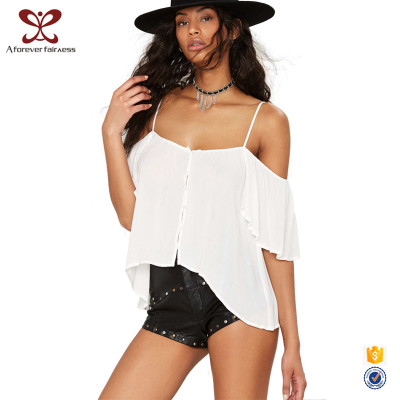 Summer Women Sexy Short Sleeve Backless Camisole,Ladies Batwing Sleeve Camisole China
