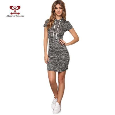 Women One-Piece Hooded Slim Fit Bodycon Long Hoodies Dress,Elastic Ladies Dress China