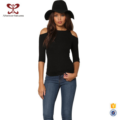 Fashion Black T-Shirt Women Off Shoulder Sexy T-Shirt For Charming Ladies