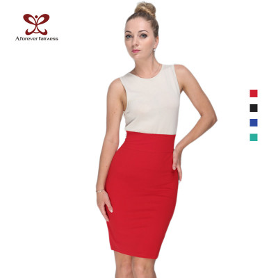 A_FOREVER_FARINESS Ladies New Design Sexy Bodycon High Waist Zipper Colors Tooling Pencil Skirt