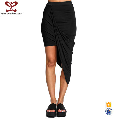 A_FOREVER_FAIRNESS Sexy Women Night Skirt Casual Polyester Black Women Bodycon Slim Fit Skirt