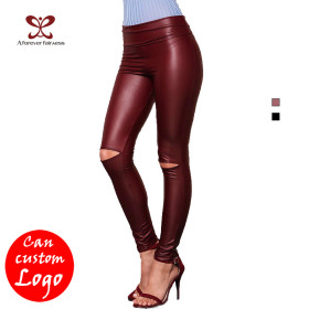 Sexy Tight Fitness Legging Black 95% Polyester 5% Spandex Mature Fashion Yoga Pants New Design  Women Legging Women--A Forever Fairness