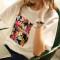 2017 Rounded Hem Fashion Women 100% Cotton Wholesale Custom Printing White T Shirt