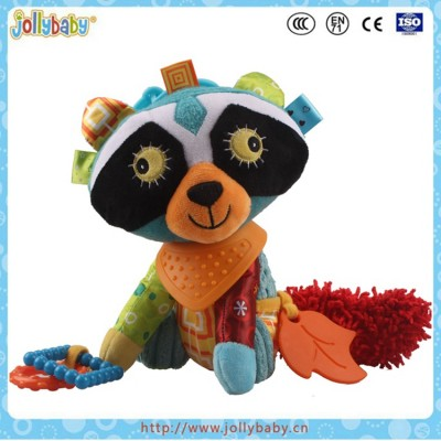 Custom Stuffed Educational Baby Soft Toy WithTeether