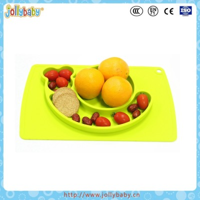 Jollbaby New Arrival Baby Silicone Dish Plate