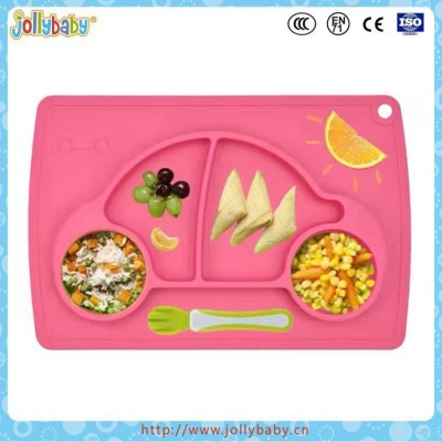 New Arrival Heat Resistance Baby Plate Silicone Placemat Plate For Kids