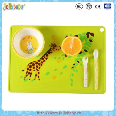Dongguan Jollybaby Food Grade And Eco-friendly Baby  Silicone Placemat