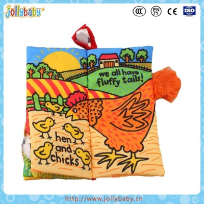 Jollybaby New Animals Tail Gift Baby Cloth Book