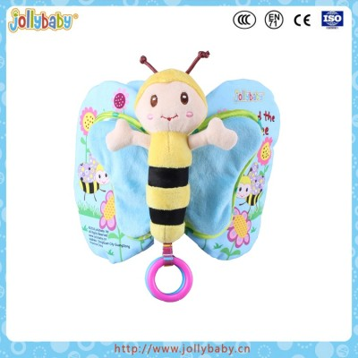 ollybaby 2016 New Design Lovely Cartoon Animals Butterfly Cloth Book