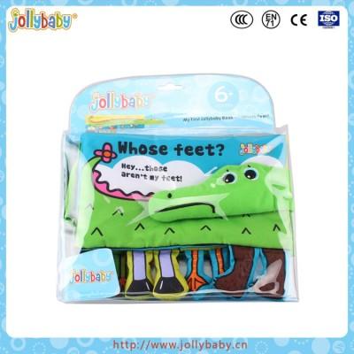 Dongguan Jollybaby 2016 New Innovative Baby Crocodile Tail Cloth Book