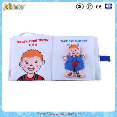 Jollybaby 2016 Innovative Square Shaped Baby Fabric Soft Cloth Book