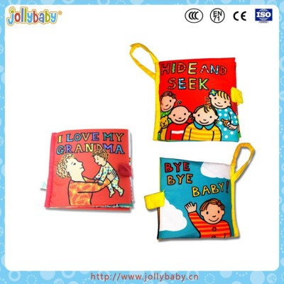 Australia Brand Jollybaby Baby Early Educational Durable And Soft Learning Cloth Book