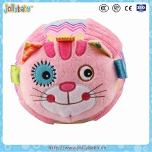 Jollybaby 2016 Innovate OBM Baby Early Educational Animals Tail Soft Cloth Book