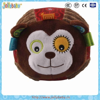Jollybaby Colorful Super Soft Baby Chime Ball With Animals Face
