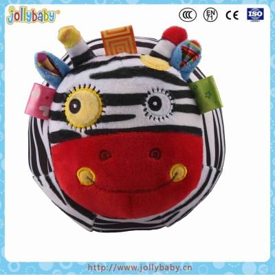 Jollybaby Custom Promotional Baby Bounce Soft Plush Donkey Animals Ball Toy