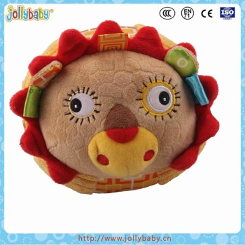 China Factory Wholesale Cartoon Animals Hand Rattle Lovely Baby Ball