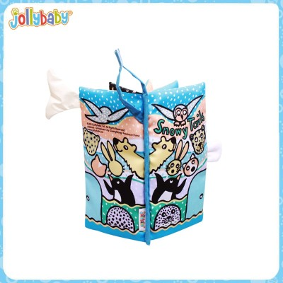 Jollybaby Wholesale Animal Tails Baby Cloth Book,Baby Educational Cloth Book,Colorful Fabric Book