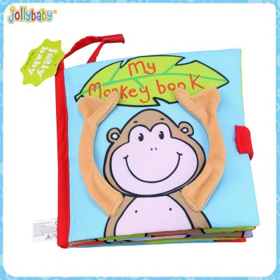 Baby functional cloth books with rattles for baby playing and educate