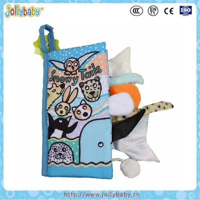 Animal Tails Baby Cloth Book,Baby Educational Cloth Book,Colorful Fabric Book