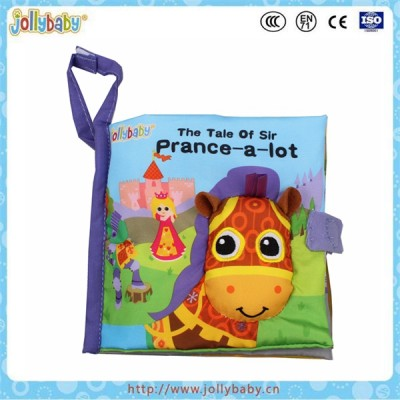 Wear-resistant and bite-resistant soft baby cloth book