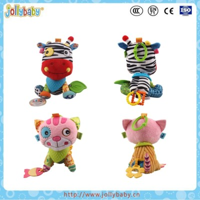 animals plush toy with soft baby teether