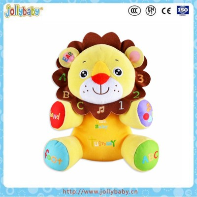 Cute look animals musical soft plush stuffed baby toy