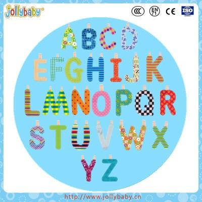 cloth English alphabet learning charts toys