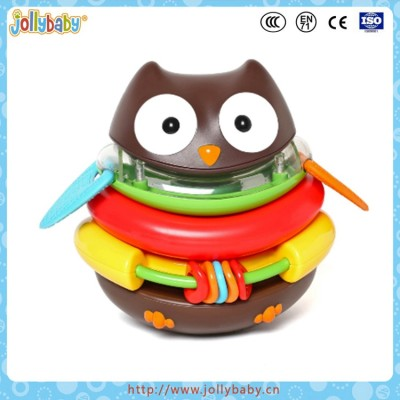 Rocking Baby Educational Detachable Plactic Owl Toy