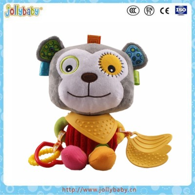 Jollybaby Lovely Wholesale Baby Monkey Animals Teether Plush Toys