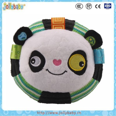 Embroidery eye bouncing plush toy with little bell inside