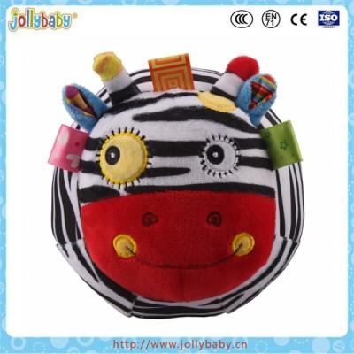 Jollybaby plush stuffed animal ball with bell rattle ball