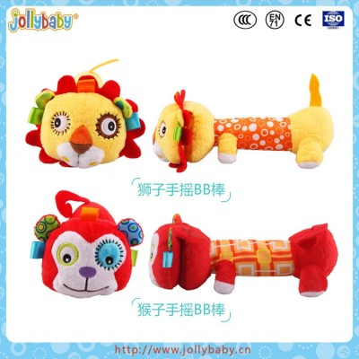 Jollybaby Soft Plush Rattle Toy With Mirror Inside