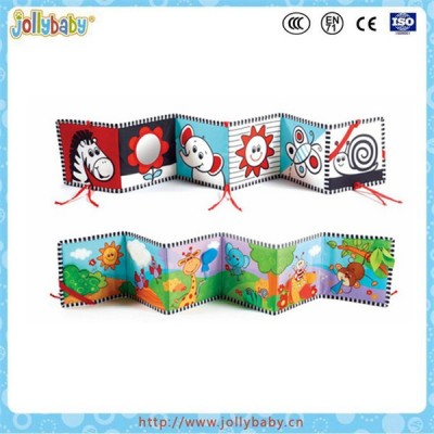 Dongguan factory wholesale baby cloth book for infanette around