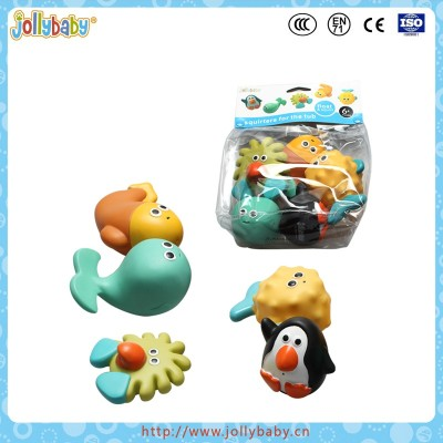 Rubber floating penguin baby bath toy