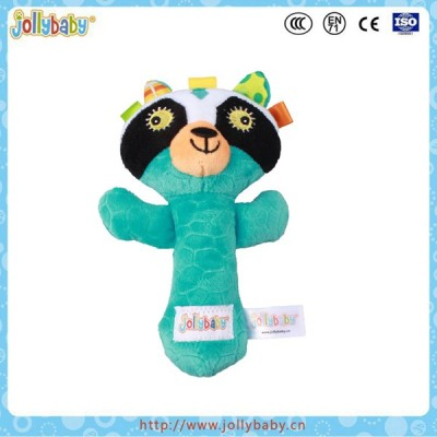 Jollybaby wholesale plush hand rattle stick best baby toys