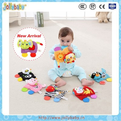 Jollybaby lion snuggle teether baby soft toys