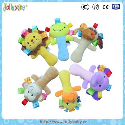 Jollybaby plush hand rattle stick best baby toys