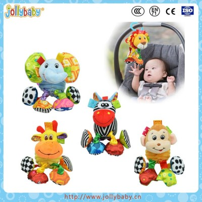 music hanging bell pull string plush toys for baby