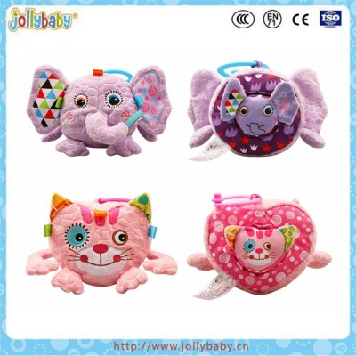 Jollybaby soft plush construction animal play toy brick
