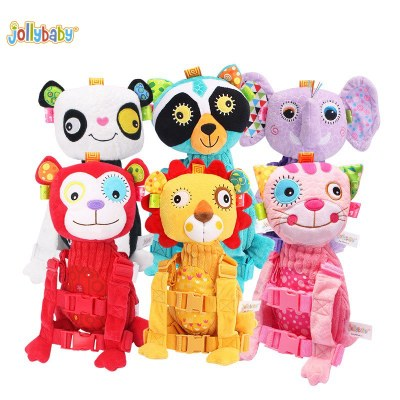 Jollybaby  Toddler Backpack Harness & Rein And Plush Animals