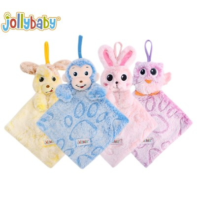 Jollybaby Early Educational Hanging Cartoon Animals Soft Book With Little Bell