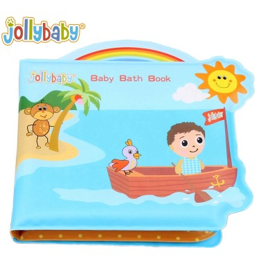 Jollybaby Bath Time Toy Toddler Bath Book Waterproof  Plastic EVA Book