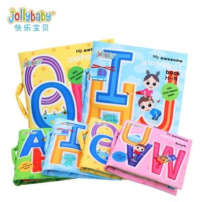 Jollybaby First Scholastic ABC Alphabet  Detachable Baby Fabric Book