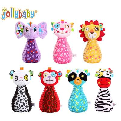 Plush Animals Mini 7-Pin Bowling Game For Baby And Toddlers