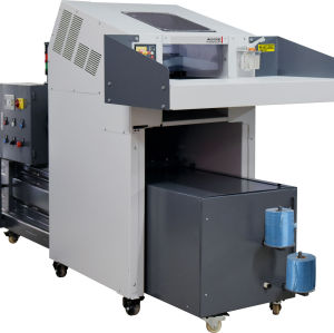 Industrial Paper shredder and hydraulic baler