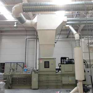 Printing industry waste discharge line