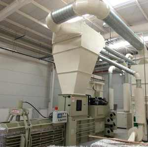 Printing industry waste discharge line material shredder