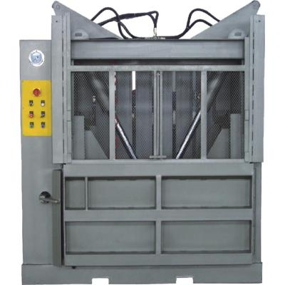 Vertical baler with solution for film factory