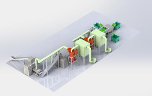 Toner Cartridges Treatment for recycling & security and recycling machinery