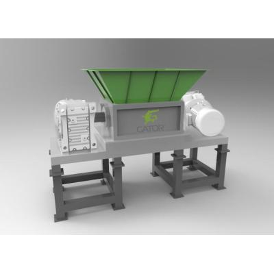 Two Shaft Solid Waste Shredder For Shredding Carton Plastic Bottle WEEE Solid Waste